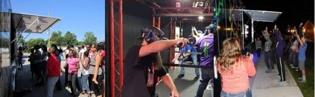 Virtual reality video game truck party in Austin Texas