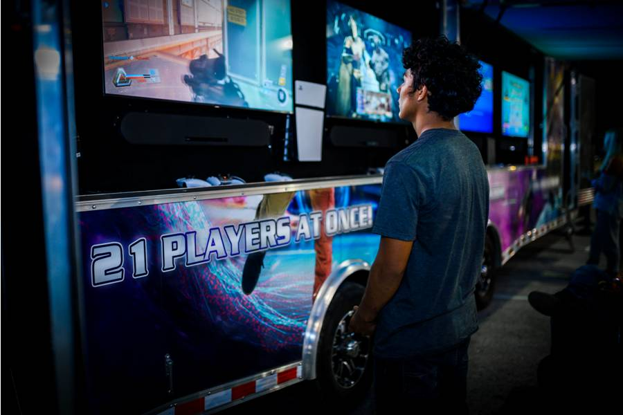 Video game truck party in Austin  Texas